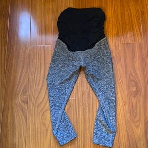 Beyond Yoga Beyond The Bump Gray Leggings
